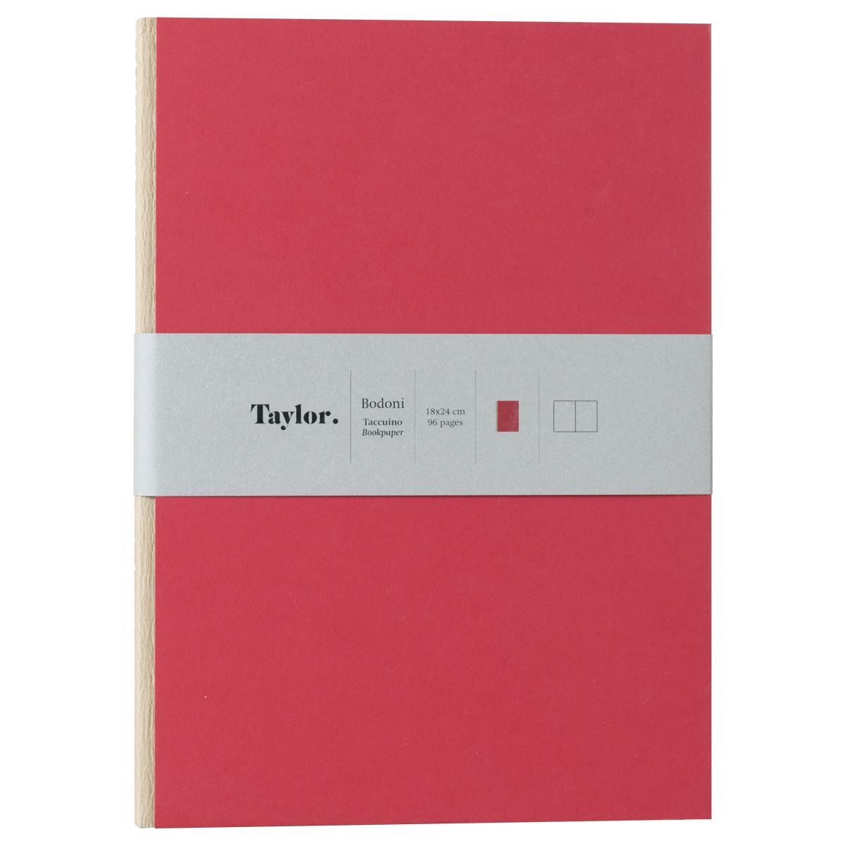 Taccuino grande pagine bianche Taylor Bodoni