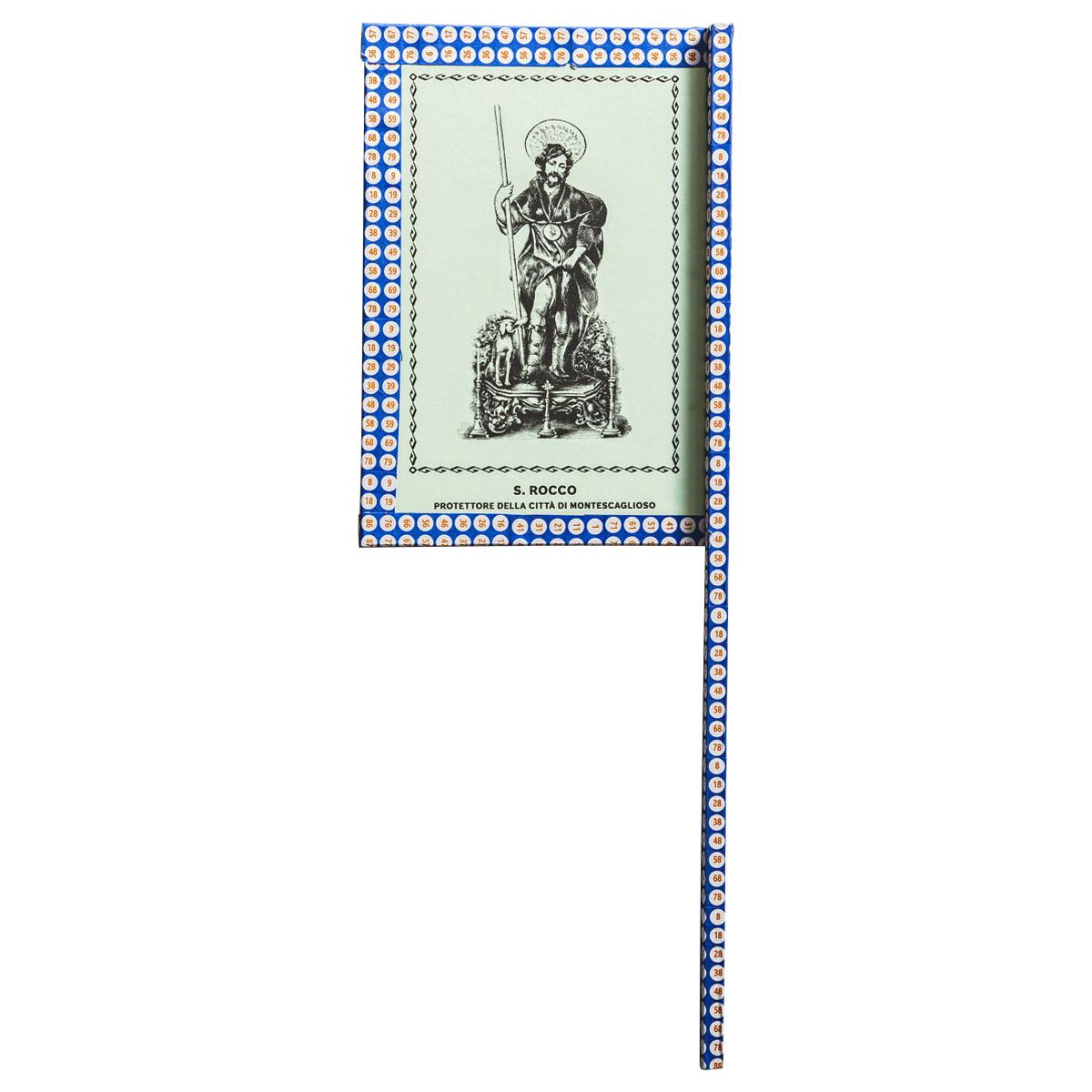 Ventaglio devozionale blu/bianco San Rocco