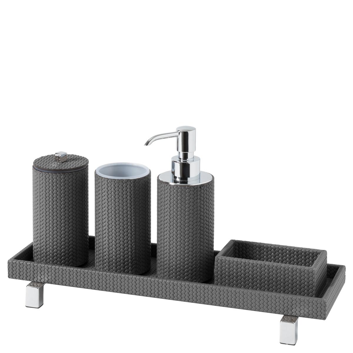 Set accessori bagno tondo Poseidon