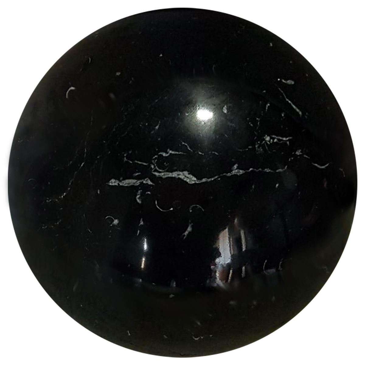Sfera in marmo nero Marquina