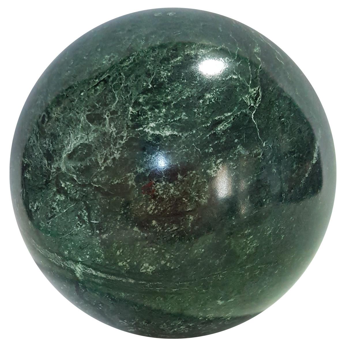 Sfera in marmo verde Guatemala
