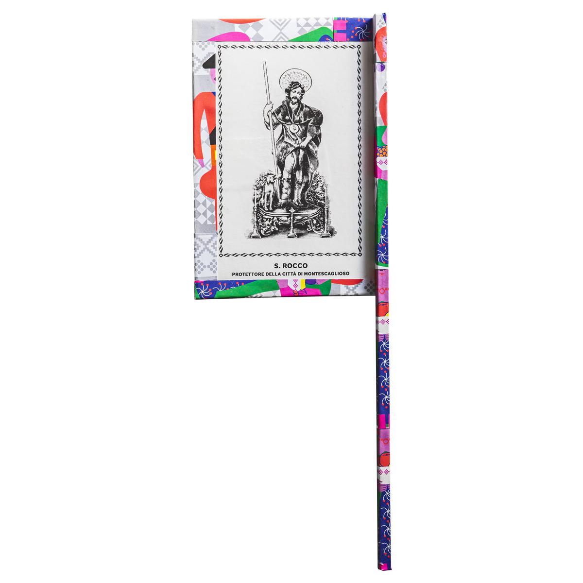 Ventaglio devozionale multicolore San Rocco