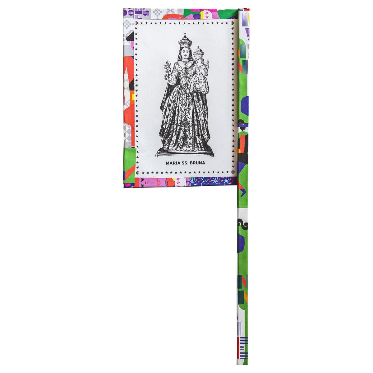 Ventaglio devozionale multicolore Maria SS. Bruna
