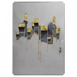Scultura da parete appendiabiti Despina, ferro lucido | ottone battuto by La Fucina di Efesto