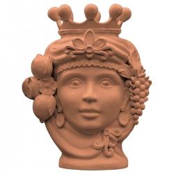 Testa di moro Atena, terracotta by Stefania Boemi