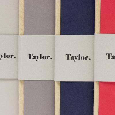 Taccuino grande pagine bianche Taylor Bodoni by Rubbettino