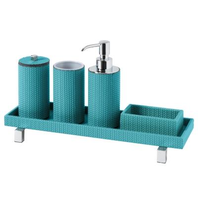 Set accessori bagno tondo Poseidon, Firenze |  grigio scuro by Pinetti