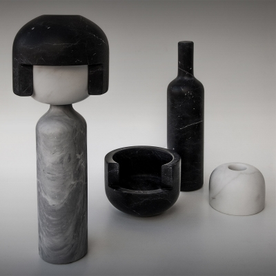 Scultura Soggetti Smarriti, Marmo |  nero | grigio by Gumdesign
