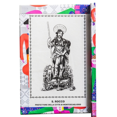 Ventaglio devozionale multicolore San Rocco by Mauro Bubbico