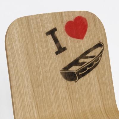 Sedia in legno Tria Simple Boat, rovere naturale by Colé