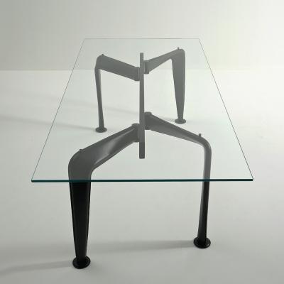 Tavolo rettangolare Asymmetrical, cuoio nero by Colé