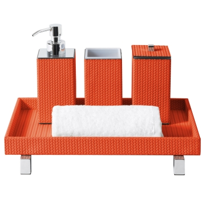 Set accessori bagno quadrato Poseidon, Firenze |  tortora by Pinetti