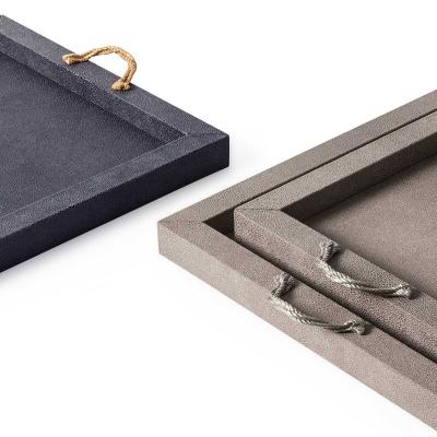 Vassoio rettangolare grigio Thalia by Pinetti
