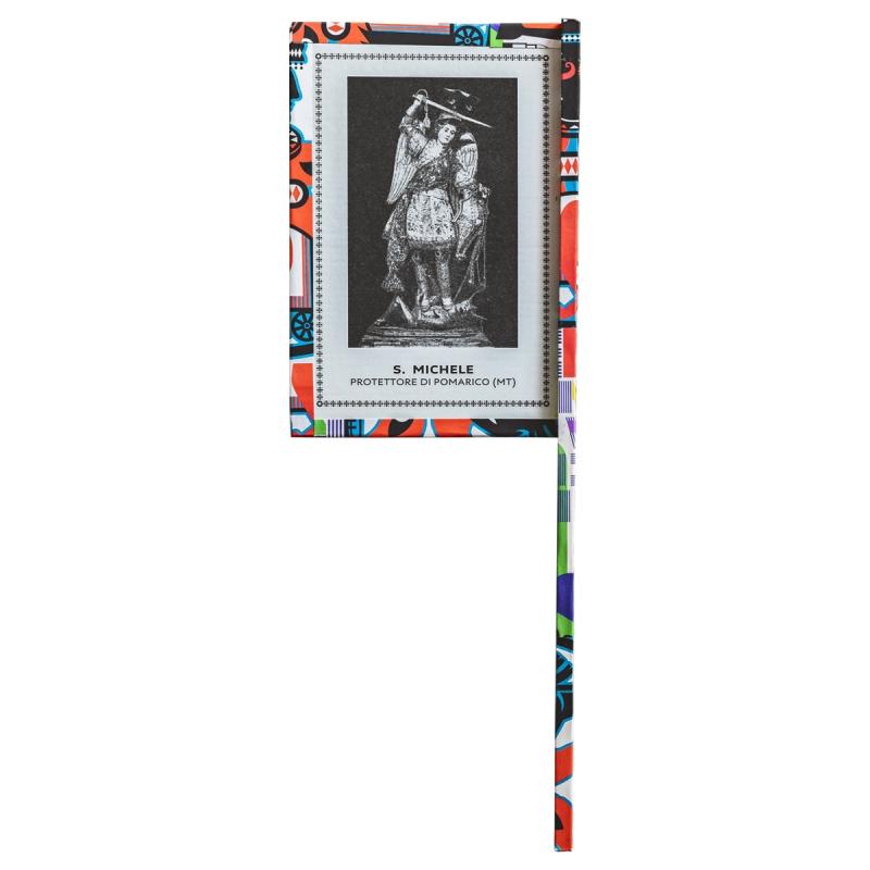 Ventaglio devozionale multicolore San Michele by Mauro Bubbico