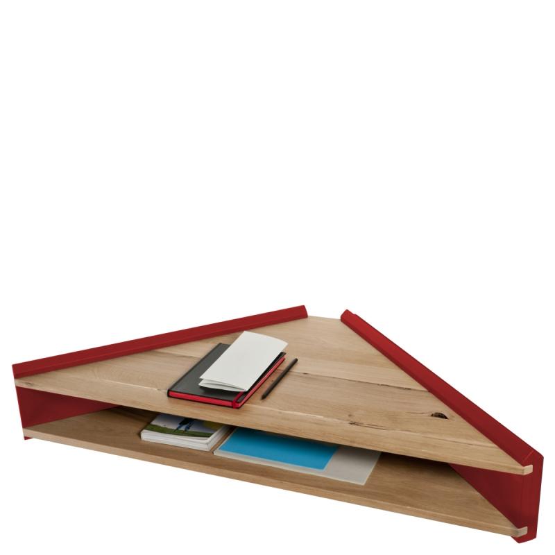 Mensola scrittoio angolare Briccola-ge, rosso by Colé